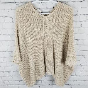 COCOGIO | wool/alpaca blend knit poncho sweater